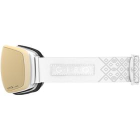 Giro Eave Maschera Donna, white velvet/vivid copper/vivid infrared